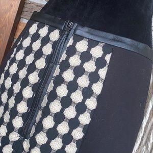 H&M Black & Cream Mini Skirt
